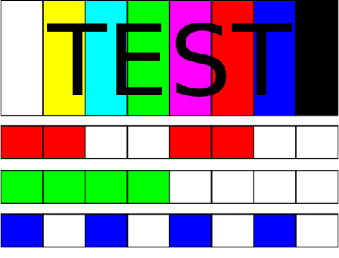 "Text in black lettering says ""text"" on a multicolored background."